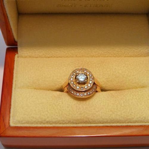 bague et alliance diamants par Audouard