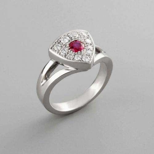 bague Rubis diamants par Audouard